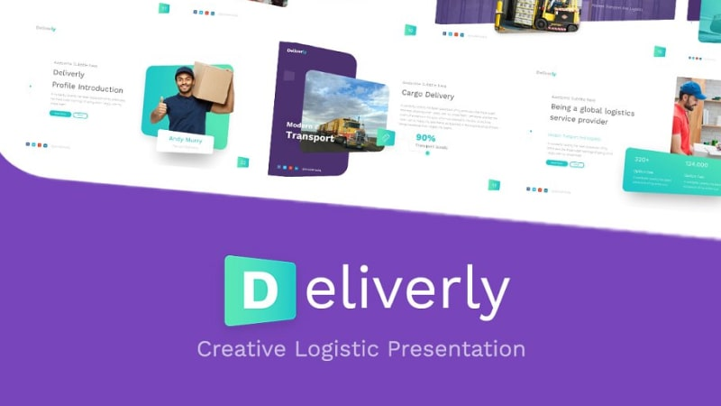 Deliverly Logistic PowerPoint Template