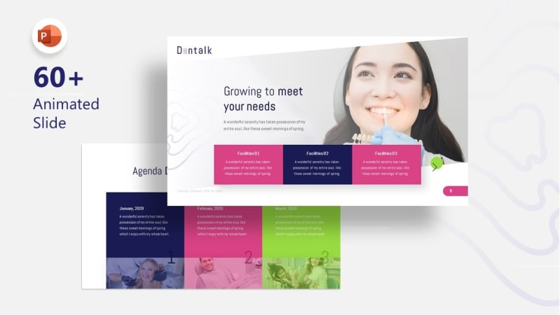 Dentalk Dental PowerPoint Template