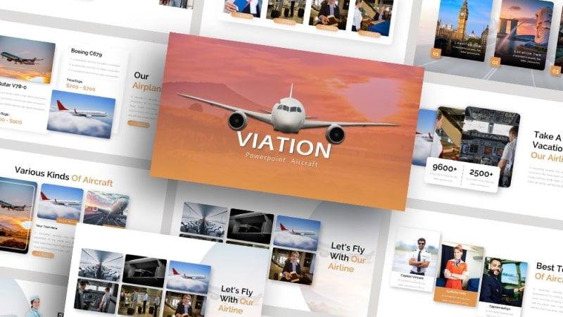 Free-Air-Lines-Viation-Presentation-Template