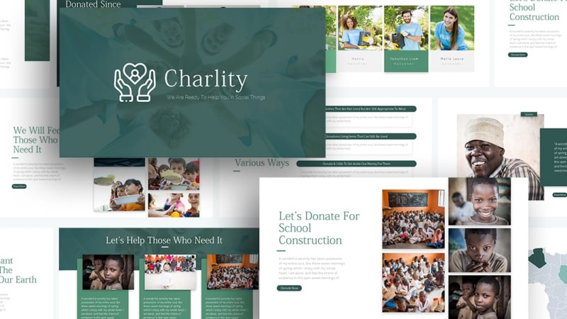 Free Charlity Social PowerPoint Template
