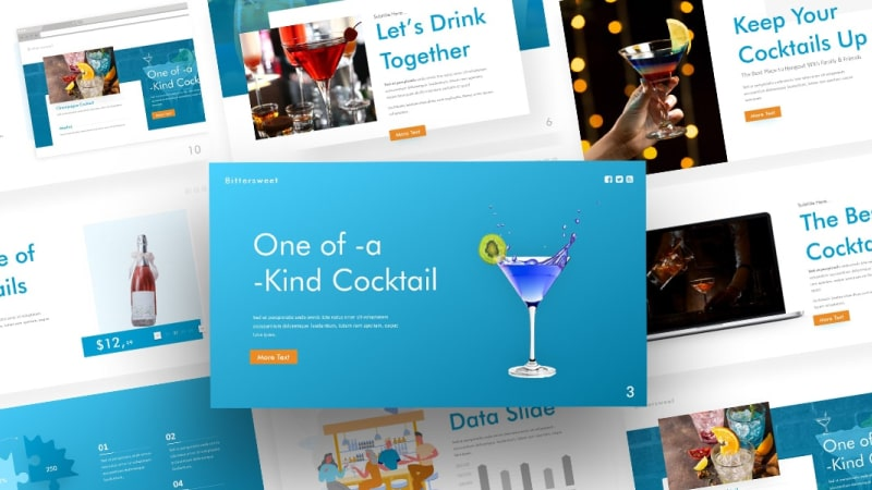 Free Bittersweet Drink and Food PowerPoint Template