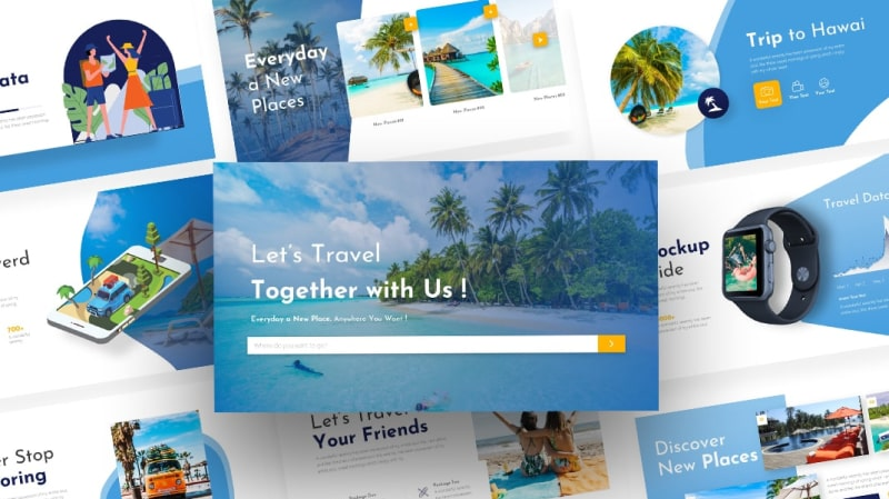 Traveler Travelling PowerPoint Template