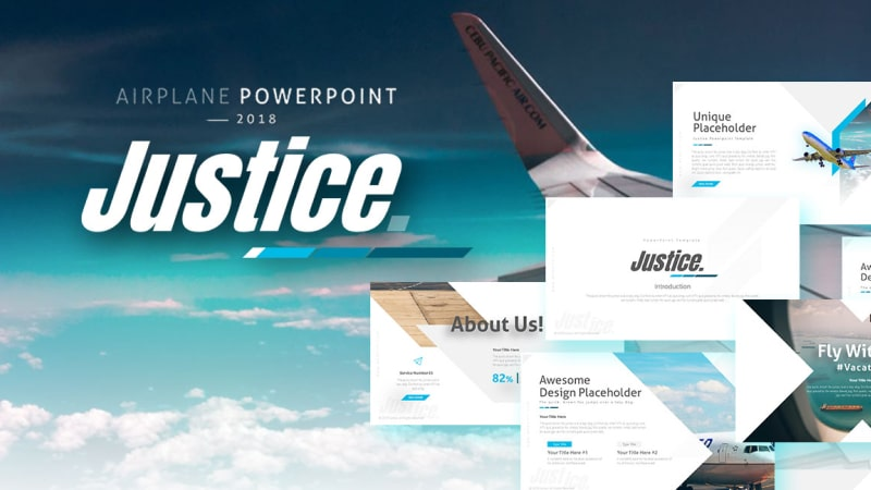 Justice Transportation PowerPoint Template