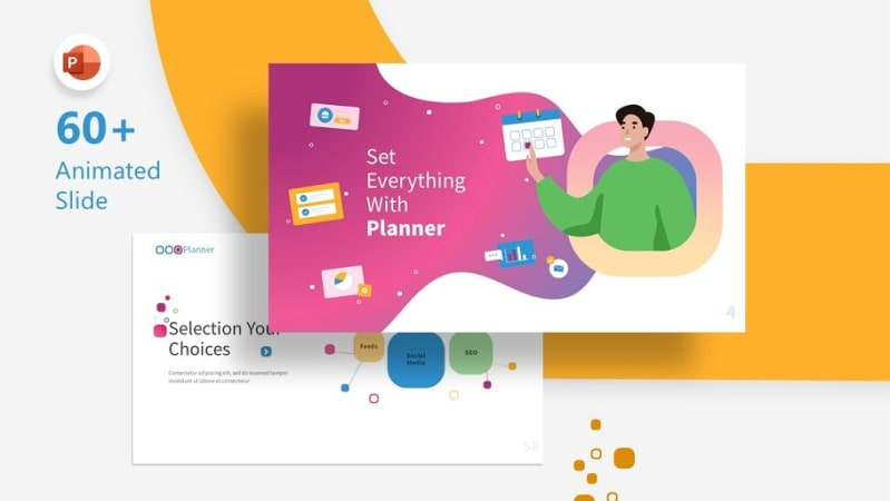 Planner Marketing PowerPoint Template