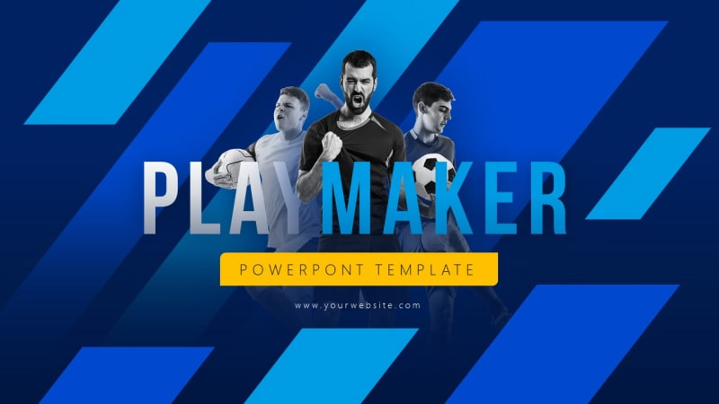 Playmaker Sports PowerPoint Template