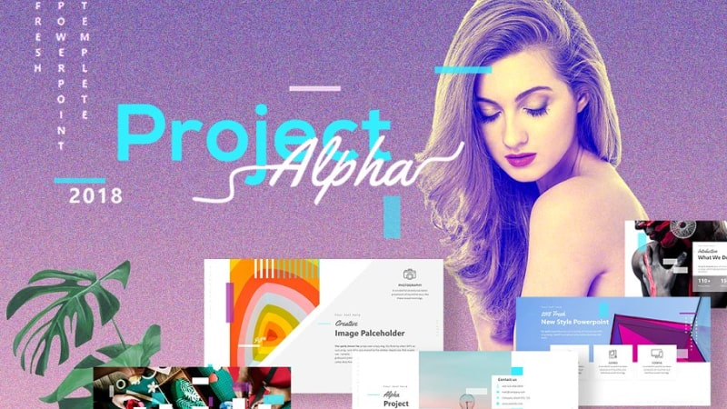 Project Alpha Fashion PowerPoint Template
