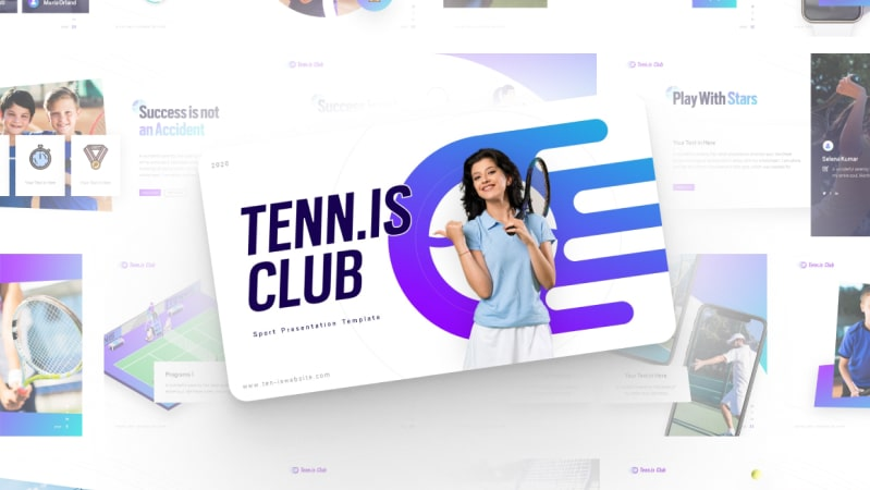 Tennis Club Sports PowerPoint Template