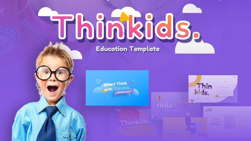 Thinkids Education PowerPoint Template