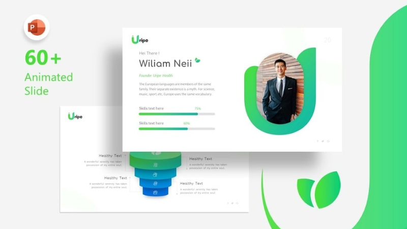 Uripe Health PowerPoint Template