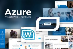 Azure Business PowerPoint Template