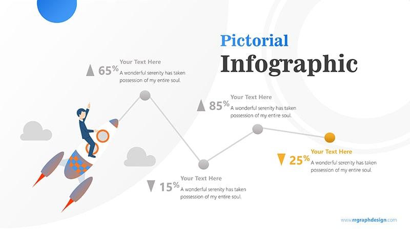 Flying Infographic PowerPoint Template
