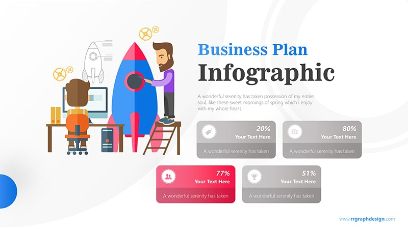 Skyrocket Infographic PowerPoint Template