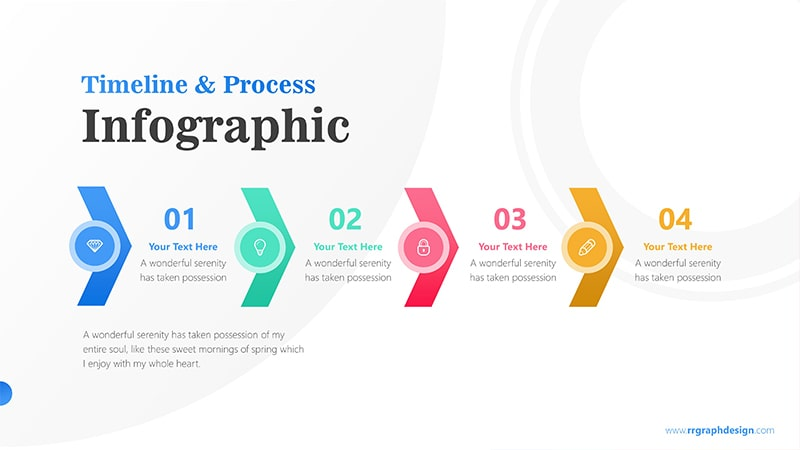 Timeline Arrows Infographic PowerPoint Template