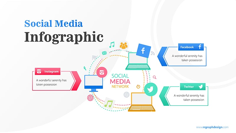 Laptop Infographic PowerPoint Template