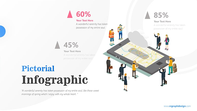 Travel Destination Map inside Phone Tablet with Traveller and Businessman Character Infographic presentation 2