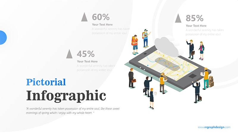 Travel Destination Map inside Phone Tablet with Traveller and Businessman Character Infographic presentation 5