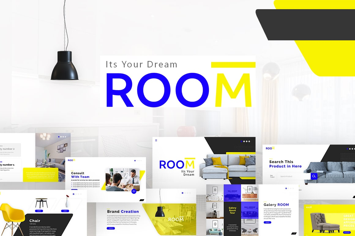 Room Furniture PowerPoint Template