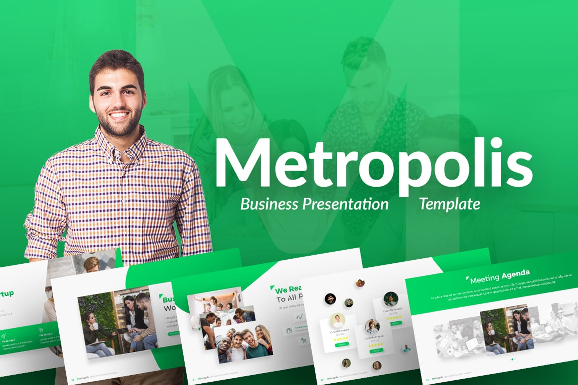 Metropolis – Futuristic Business Presentation Template