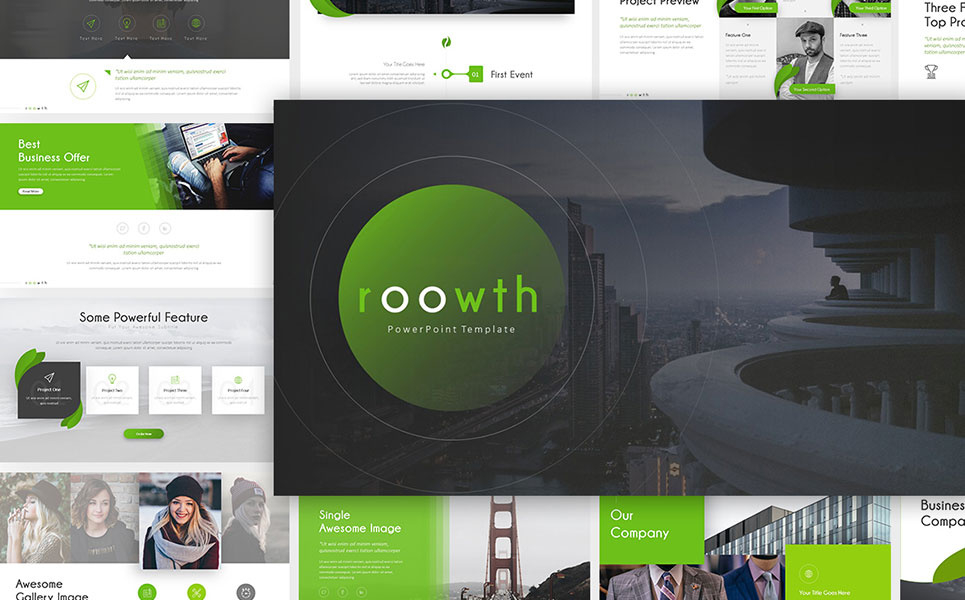 Roowth Photography PowerPoint Template