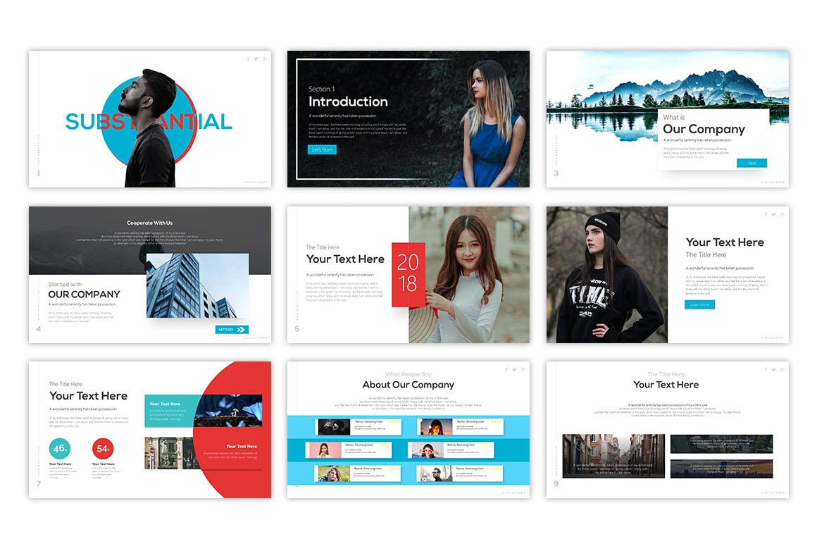 Subtantial – Aesthetic Presentation Template