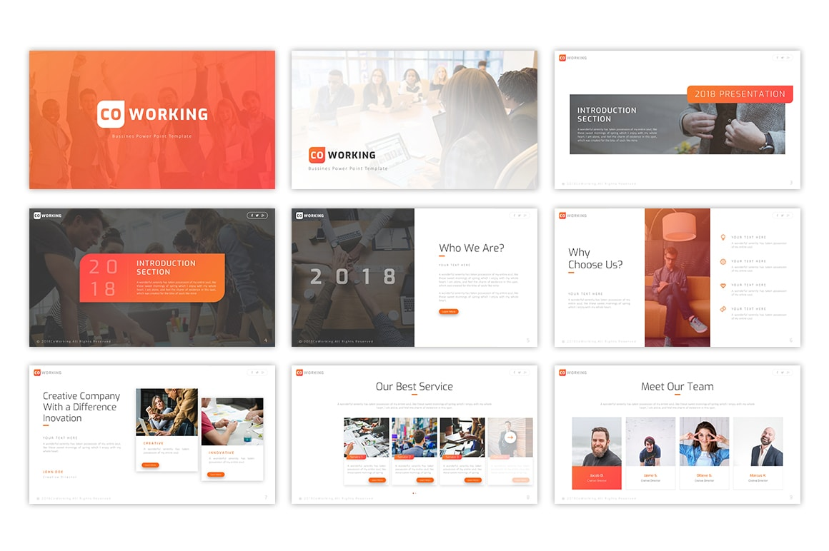 Coworking – Collaboration Presentation Template