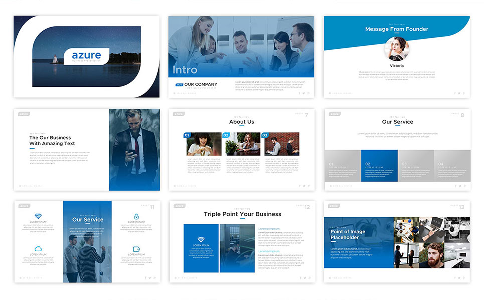 Azure – Business Pitch Presentation Template