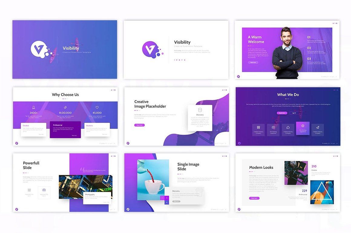 Visibility – Artistic Presentation Template