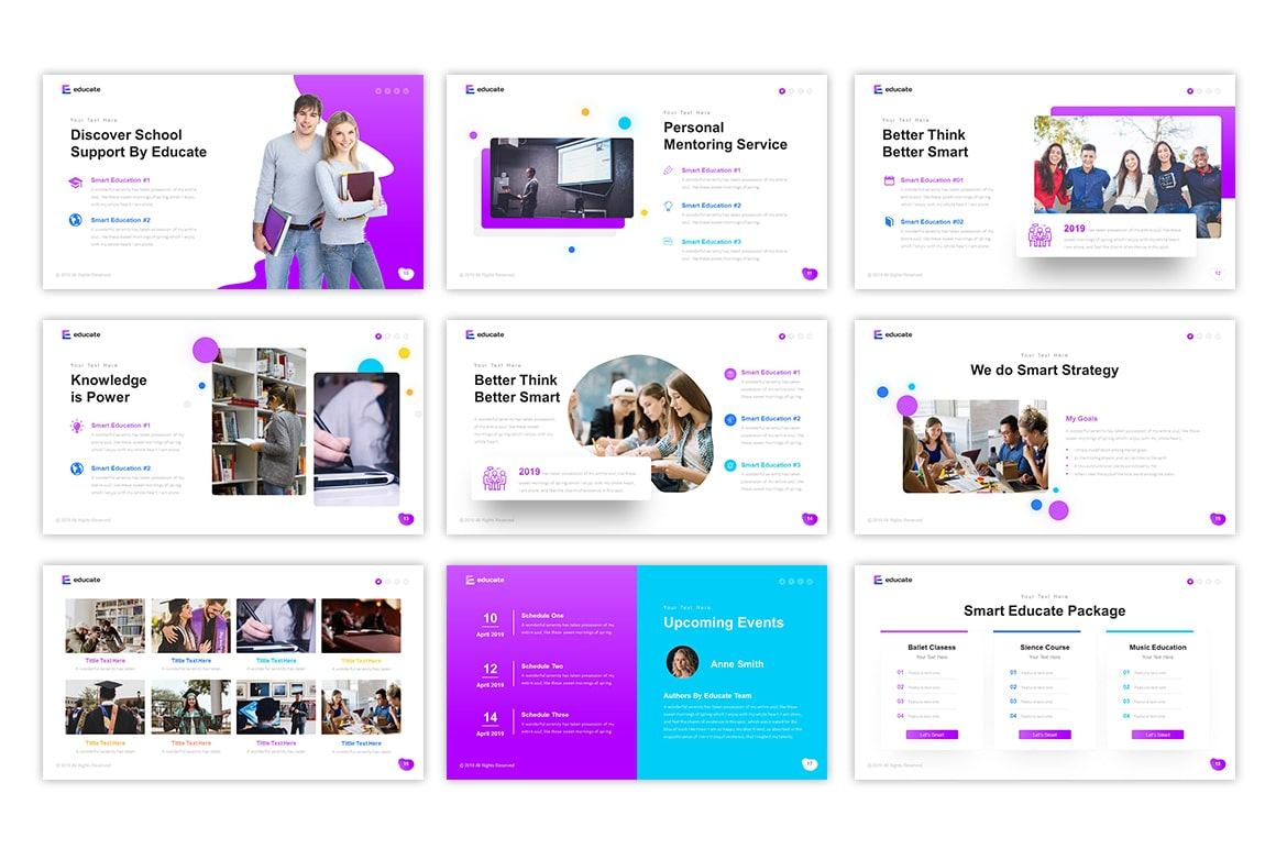Educate Education PowerPoint Template