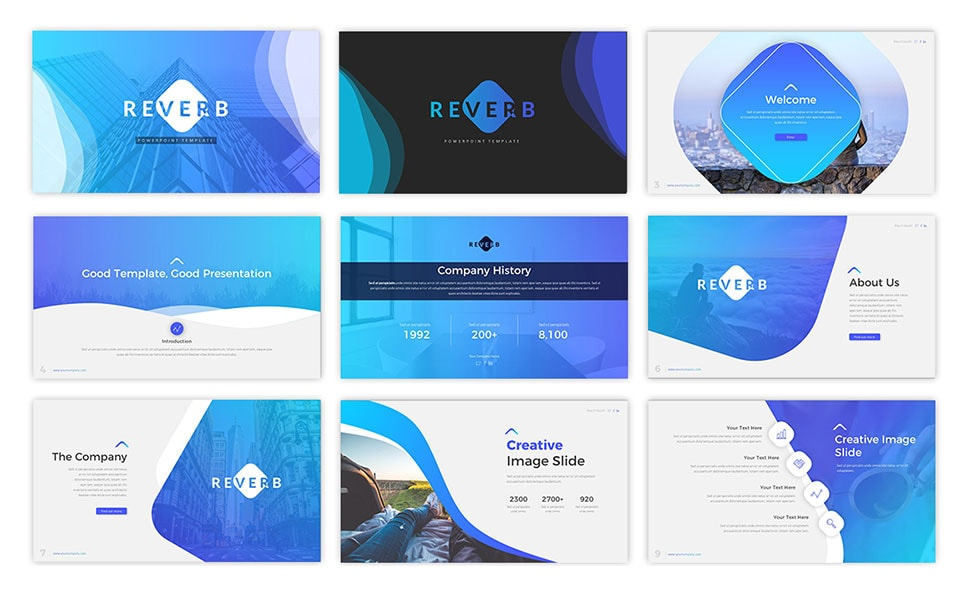 Reverb Business PowerPoint Template