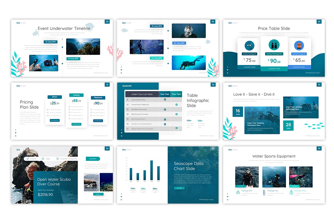Seascape Sports PowerPoint Template