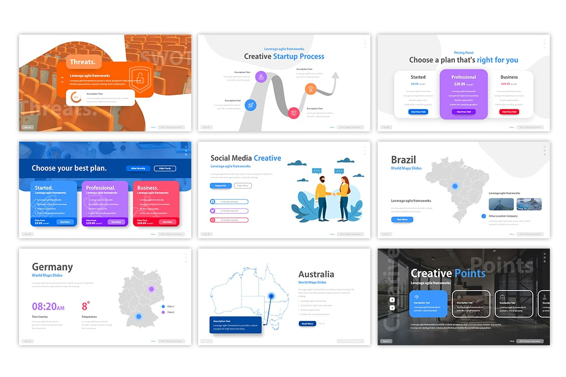 Infinty Startup PowerPoint Template