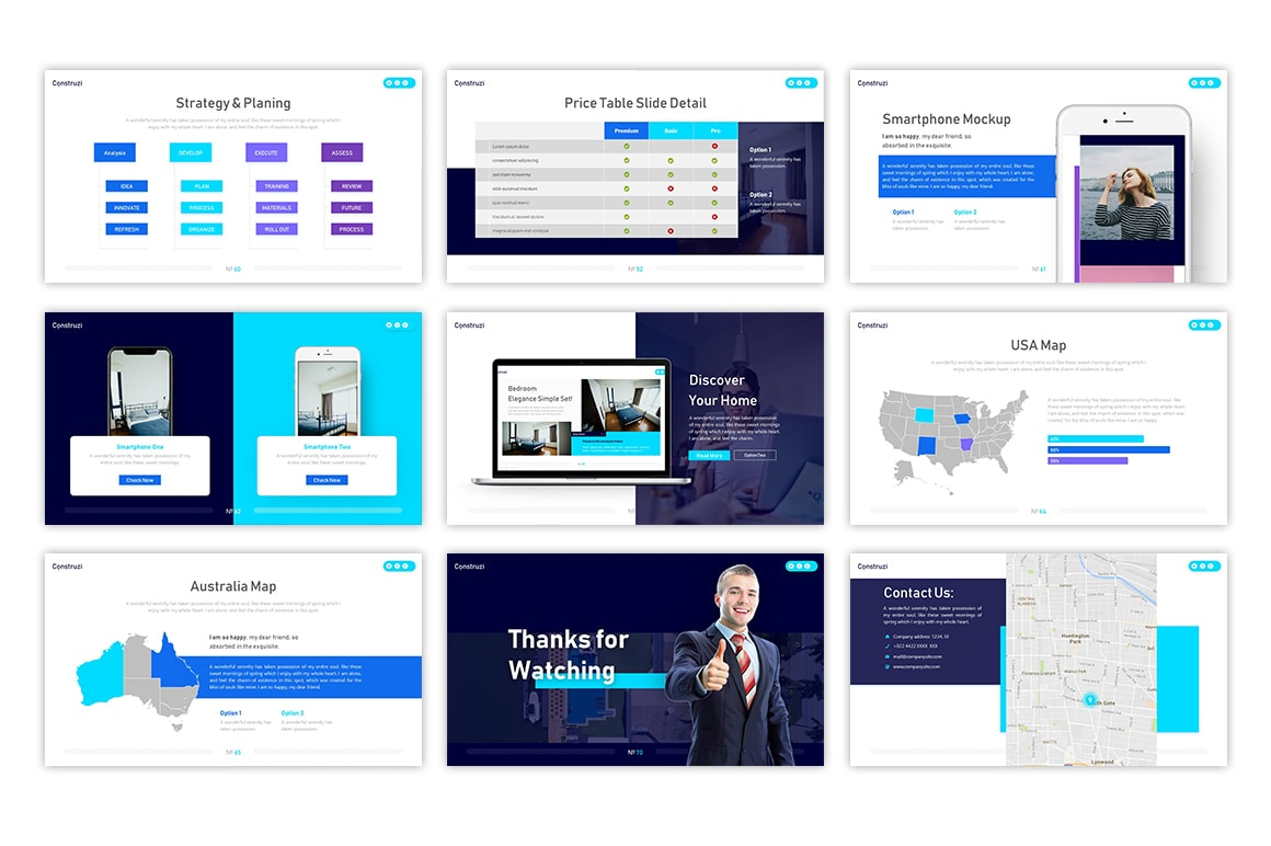 Construzi Architecture PowerPoint Template