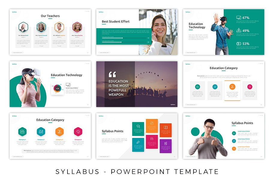 Syllabus Education PowerPoint Template