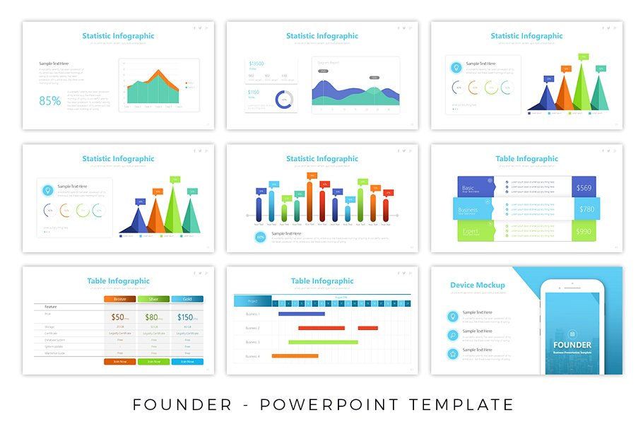 Founder Business PowerPoint Template