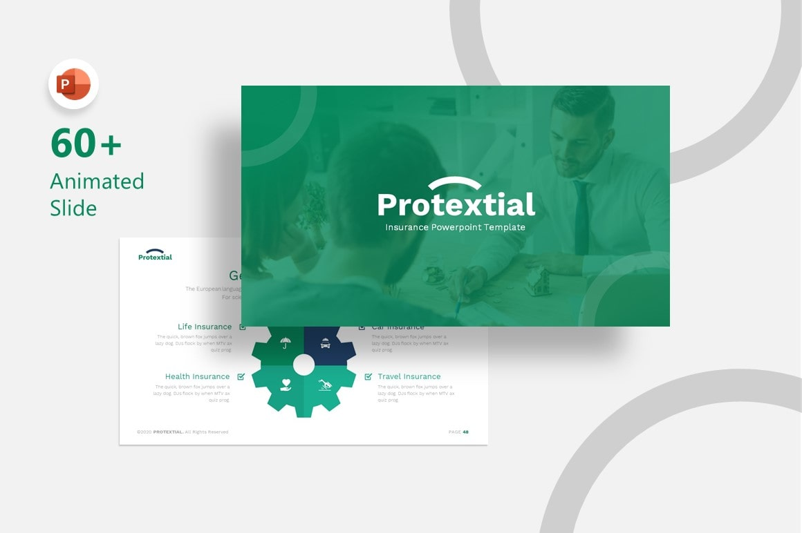 Protextial Insurance PowerPoint Template