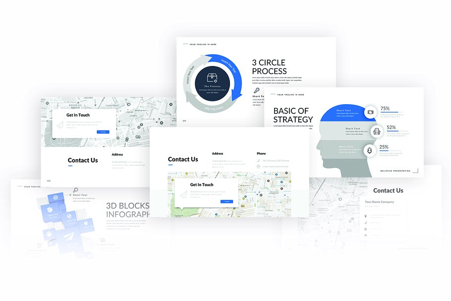 Malistisk Business PowerPoint Template