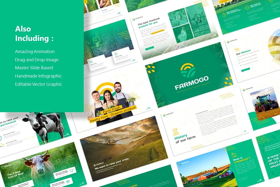 Farmogo Agriculture PowerPoint Template