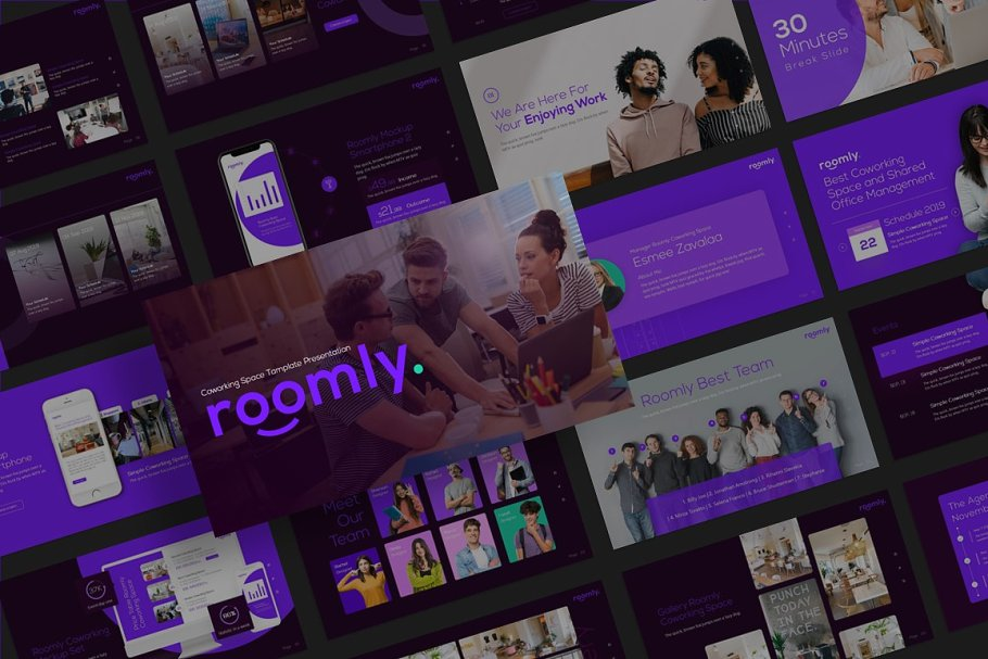 Roomly Startup PowerPoint Template