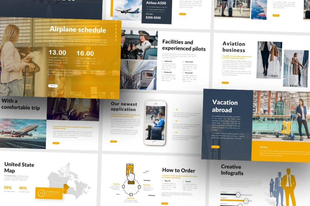 Free Aviation Business PowerPoint Template