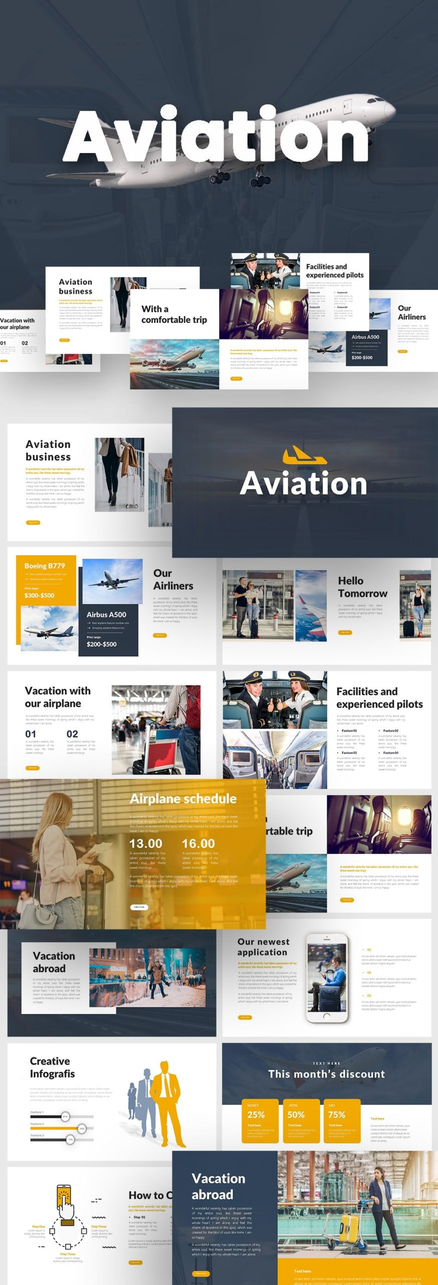 Free Air Planes PowerPoint