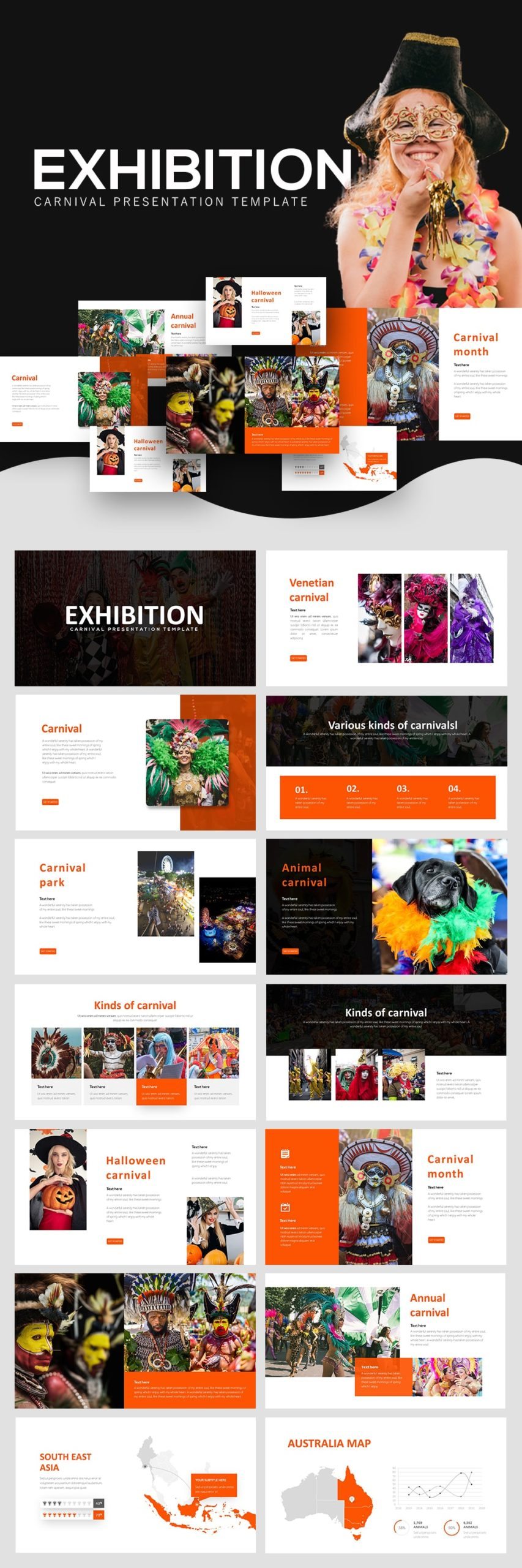 Free Exhibition Carnival PowerPoint
