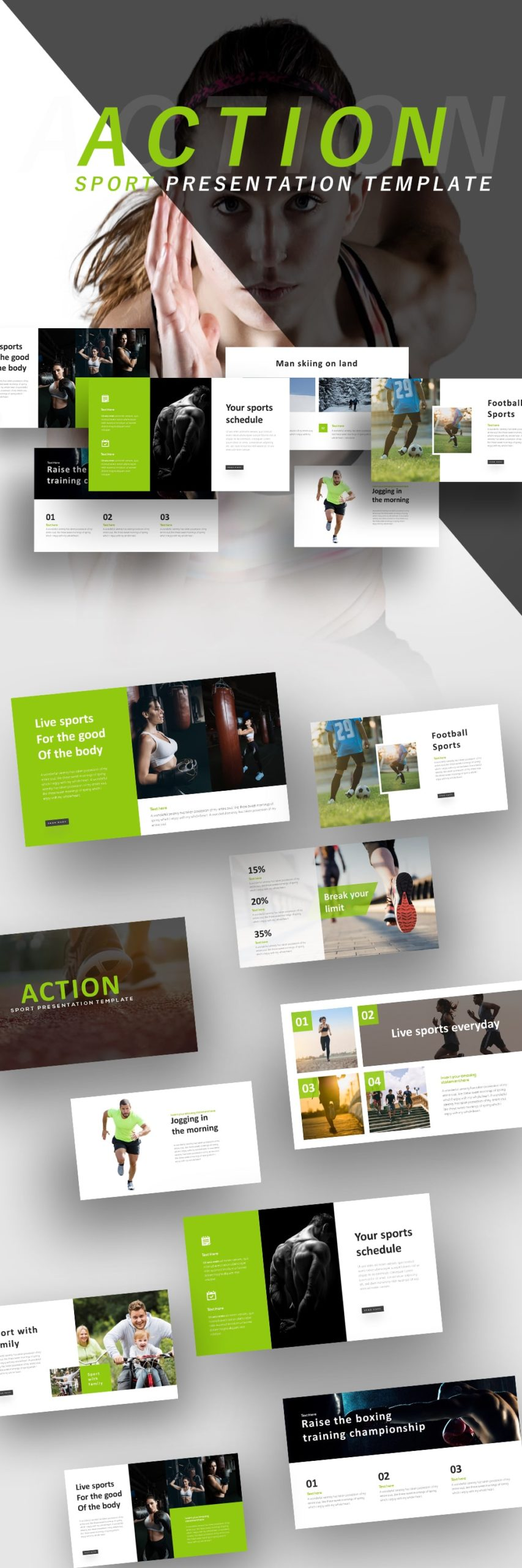 Free Action Sports PowerPoint