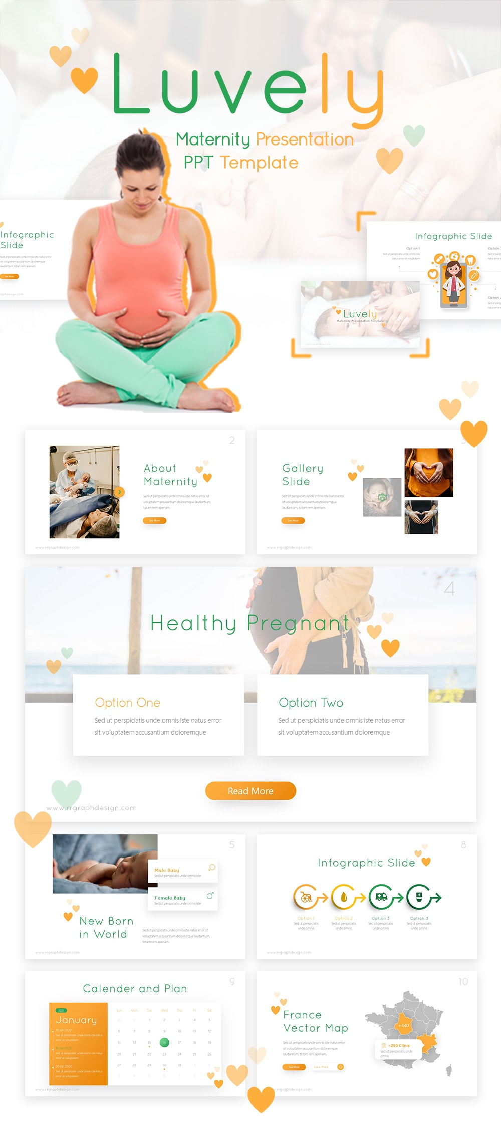 Free Luvely Maternity PowerPoint