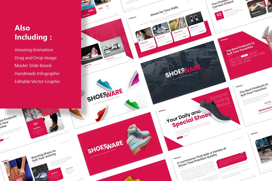 Shoes E-Commerce PowerPoint Template