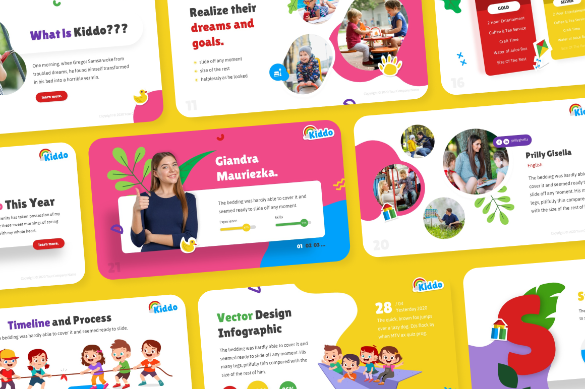 Kiddo Education PowerPoint Template