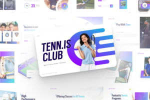 Tennis Club Sports PowerPoint