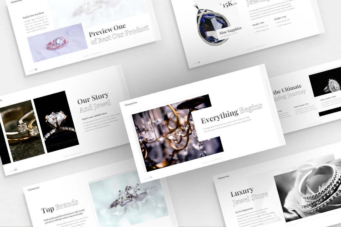 Glamorosa Luxury PowerPoint Template