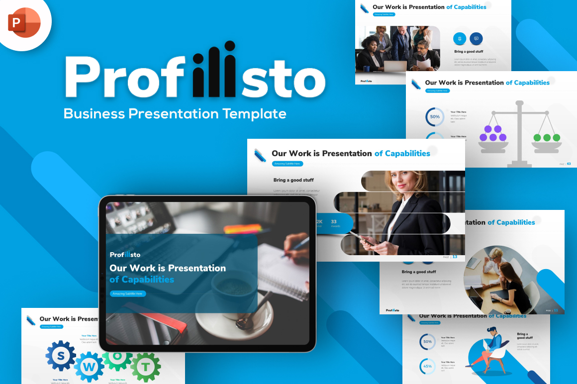 Profilisto Business PowerPoint Template