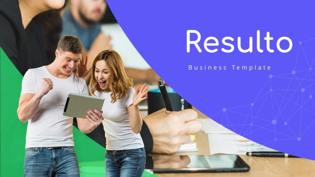 Free Resulto Business PowerPoint Template
