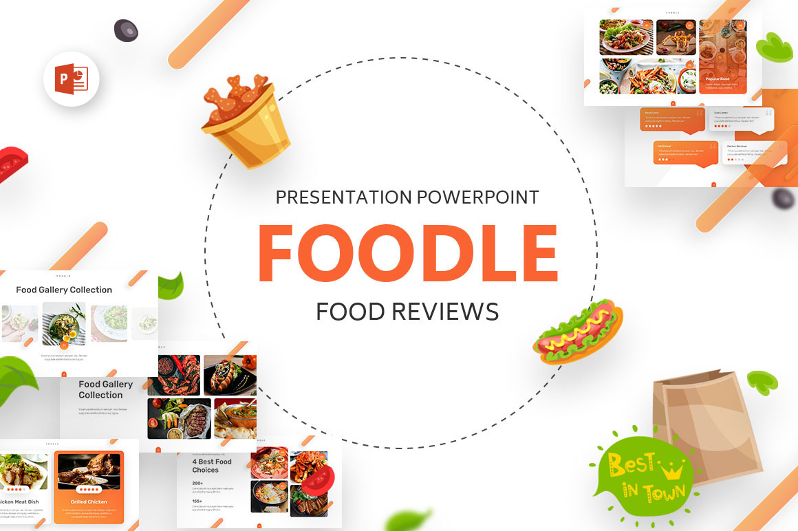 Foodle Food Review PowerPoint Template